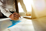 Сlipart businessman working with charts project business marketing growth photo  BillionPhotos