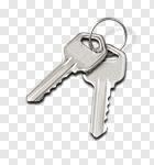 Сlipart Key House Key Key Ring Silver Metal photo cut out BillionPhotos