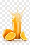 Сlipart Orange Juice Juice Splashing Orange Fruit photo cut out BillionPhotos