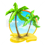 Сlipart Desert Island Island Palm tree beach tropical climate vector icon cut out BillionPhotos
