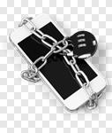 Сlipart lock phone padlock gadget chain photo cut out BillionPhotos