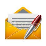 Сlipart Envelope Letter Pen SMS SMS Message vector icon cut out BillionPhotos