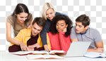 Сlipart students university adults group teamwork photo cut out BillionPhotos