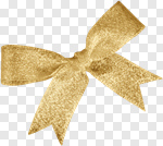 Сlipart Ribbon Gold Bow White Silk photo cut out BillionPhotos
