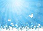 Сlipart Backgrounds Butterfly Spring Flower Grass vector  BillionPhotos