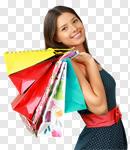 Сlipart Shopping Women Fashion Shopping Bag Cheerful photo cut out BillionPhotos