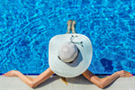 Сlipart pool relaxation sun beach hat photo  BillionPhotos