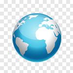 Сlipart globe earth world blue planet vector cut out BillionPhotos