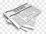 Сlipart Newspaper The Media Newspaper Headline Paper Announcement Message 3d cut out BillionPhotos