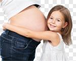 Сlipart pregnant mum child hug joy photo cut out BillionPhotos