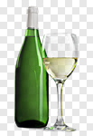 Сlipart Wine Bottle White Wine Wine Bottle Glass photo cut out BillionPhotos