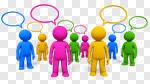 Сlipart Communication Discussion Talking Teamwork Ideas 3d cut out BillionPhotos