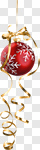 Сlipart Christmas Christmas Ornament Christmas Decoration Ribbon Holiday photo cut out BillionPhotos