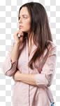 Сlipart think woman doubt teen profile photo cut out BillionPhotos