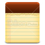 Сlipart document aspirations blank empty examining vector icon cut out BillionPhotos