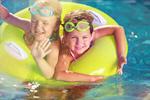 Сlipart Kid in swimming pool water park slide aquapark   BillionPhotos