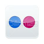 Сlipart Flickr Flickr icon Sharing Social Media social button vector icon cut out BillionPhotos