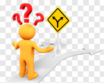 Сlipart Advice Question Mark Choice Decisions People 3d cut out BillionPhotos