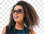 Сlipart Afro Women Disco Dancing Eyewear African Descent photo cut out BillionPhotos