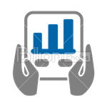Сlipart Business Finance Chart Graph Arrow Sign vector icon cut out BillionPhotos