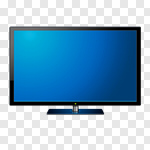 Сlipart Television Computer Monitor Liquid-Crystal Display Flat Screen High-definition Television vector cut out BillionPhotos