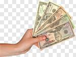 Сlipart Five Dollar Bill Currency Human Hand Dollar Five Objects photo cut out BillionPhotos