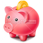 Сlipart piggy bank money box money-box pig coin bank vector icon cut out BillionPhotos