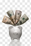 Сlipart Piggy Bank Savings Currency Happiness Cheerful photo cut out BillionPhotos