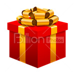 Сlipart gift gift box anniversary celebration birthday vector icon cut out BillionPhotos