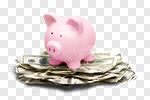 Сlipart Currency Piggy Bank Savings Finance Wealth photo cut out BillionPhotos