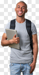 Сlipart Student College Student Teenager Male Laptop photo cut out BillionPhotos