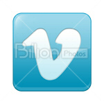 Сlipart vimeo Sharing Social Media social button Bookmark vector icon cut out BillionPhotos