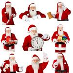 Сlipart Santa Claus Christmas Clock Frame Time   BillionPhotos