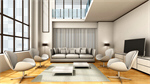 Сlipart Living Room Contemporary Home Interior Showcase Interior Indoors 3d cut out BillionPhotos