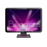 Сlipart Screen Monitor Computer Computer Screen Liquid-Crystal Display vector icon cut out BillionPhotos