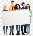 Сlipart group sign blank partnership billboard photo cut out BillionPhotos