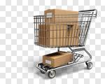 Сlipart Shopping Cart bulk Shopping E-commerce Buying 3d cut out BillionPhotos