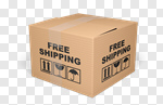 Сlipart Shipping Freedom Box Delivering Cardboard Box 3d cut out BillionPhotos