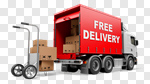 Сlipart Delivering Freedom Shipping Truck Moving House 3d cut out BillionPhotos