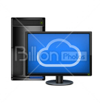 Сlipart computer desktop display equipment monitor vector icon cut out BillionPhotos