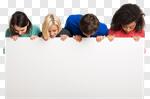 Сlipart student team group school banner photo cut out BillionPhotos
