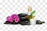 Сlipart spa stone background alternative flower photo cut out BillionPhotos