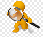 Сlipart Magnifying Glass People Three-dimensional Shape Searching Business 3d cut out BillionPhotos