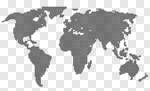 Сlipart World Map Map Earth Spotted Flat vector cut out BillionPhotos