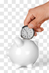 Сlipart Time Savings Time is Money Clock Piggy Bank photo cut out BillionPhotos