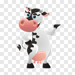 Сlipart Cow Cartoon Animal Cheerful Happiness vector cut out BillionPhotos