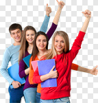 Сlipart Student High School Student College Student Education Excitement photo cut out BillionPhotos