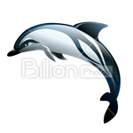 Сlipart Fish Turtle Sea Shell Dolphin vector icon cut out BillionPhotos