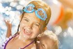 Сlipart Beautiful little girl sunning at the pool pool swim kid child   BillionPhotos