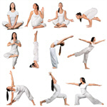 Сlipart Yoga Women Exercising Sport Relaxation Exercise   BillionPhotos
